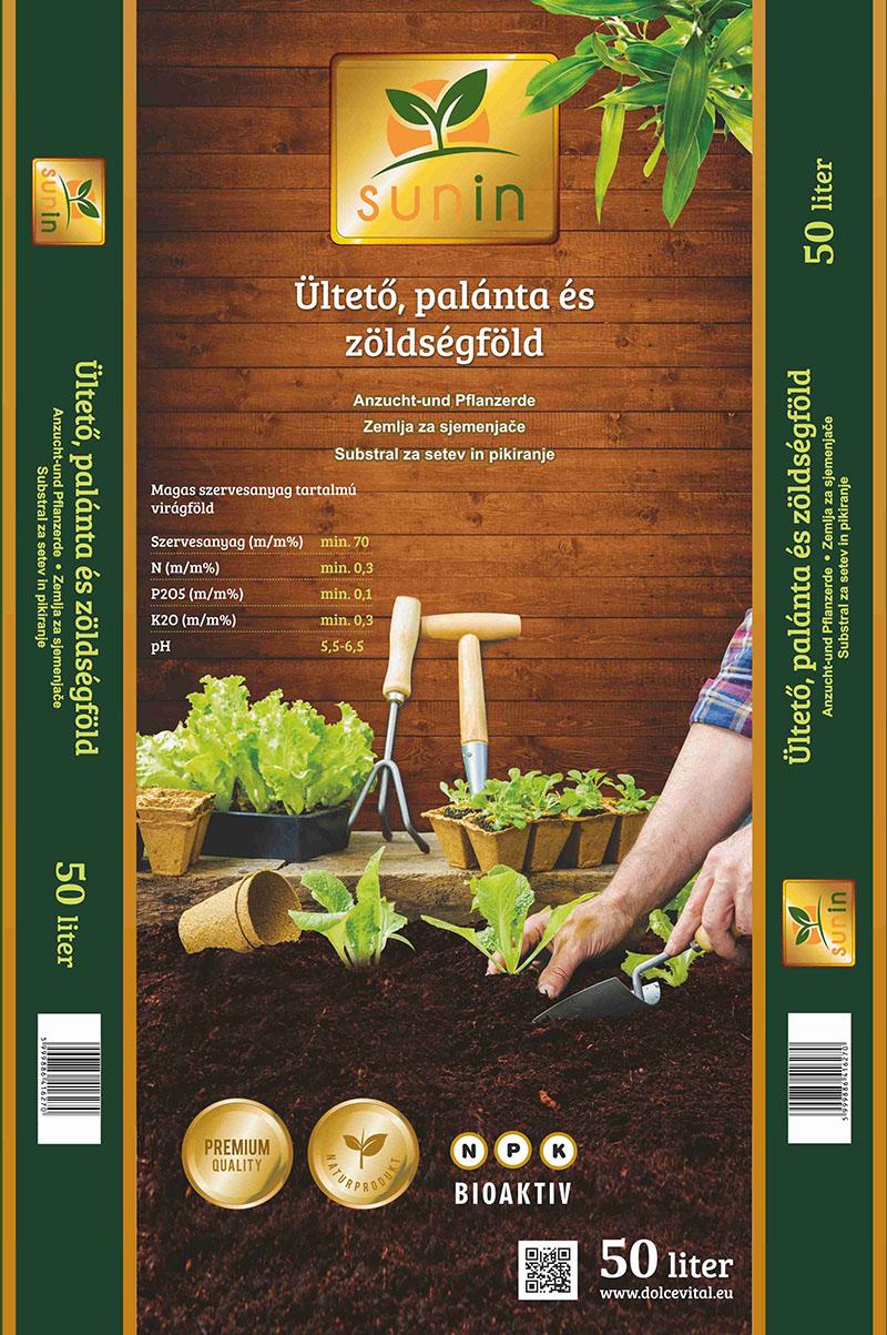 Sunin Ültető, palánta és zöldségföld